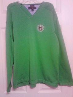 Tommy Hilfiger 2005 US Open Pinehurst No. 2 Long Sleeve Golf Shirt Green XL/XG