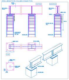 Steel beam to RC column connection   detallesconstructivos.net