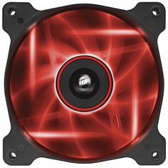 Corsair CO-9050015-RLED Air Series AF120-LED Quiet Edition 120mm High Airflow LED L�fter, Rot
