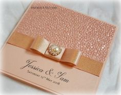 Paperlicious Oasis: Dusky Pink and Rose gold pocket invitations