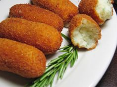 We had these in Germany, potato croquettes!  i hope this recipe is similar and i can make them turn out right...they were sooo good!  POTATO STICKS : THEY ARE A GREAT SIDE DISH TO HAMBURGERS AND EVEN A NICE PIECE OF STEAK!