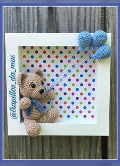 Cuadros de crochet infantiles Crochet Wreath, Crochet Box, Crochet Birds, Crochet Teddy, Crochet Bunny, Crochet Motif, Crochet Crafts, Crochet Dolls, Crochet Projects