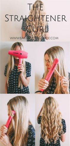 The Straightener Curl | Barefoot Blonde | Bloglovin'