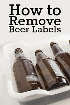 Use these 3 proven methods for ridding bottles of their former lives' branding. https://beerandbrewing.com/VJm2hSsAACgA31qj/article/how-to-remove-beer-labels