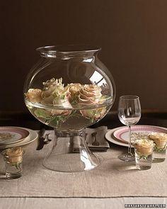 saving flowers, Martha Stewart, Rose Bowl Centerpiece