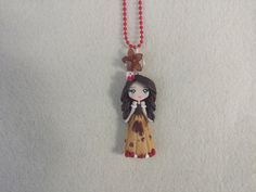 Necklace miss chocolate cake in fimo polymer clay por Artmary2, €12.00