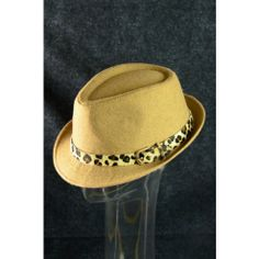 Fedora Hat Fall Winter Trend Fashion Leopard Band Hipster Hat Beige $15 only  www.monrevecollection.com