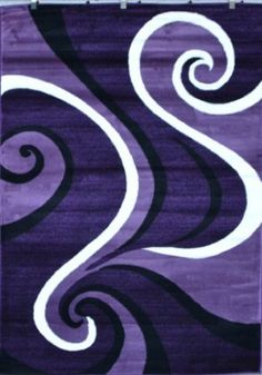 Amazon.com: 0327 Purple Black White 5'2x7'2 Area Rug Abstract Carpet: Home & Kitchen 8'X 11' only $140. I don't think this purple matches my eggplant living room. :(