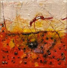 Anne Marchand, Stellar #13, ©2009, 5 In. x 5 In. acrylic and mixed media