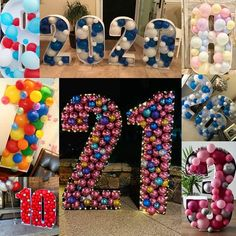 DIY large balloon number mosaic 3 - Hot pink, black & white, and zebra print theme - 3rd birthday large party decoration/backdrop Giant Number Balloons, Large Balloons, Black Balloons, Letter Balloons, Mylar Balloons, Graduation Balloons, Birthday Balloons, Balloon Party, Zebra Birthday