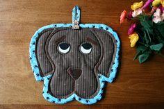 Puppy Love insulated casserole mat/hot pad  by BlueberryHillQuilts, $18.00