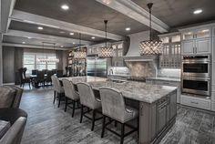 Kitchen Interior Remodeling Grey kitchen More - Elegant Kitchens, Luxury Kitchens, Beautiful Kitchens, Cool Kitchens, Grey Kitchens, Cottage Kitchens, Custom Kitchens, Modern Kitchens, Kitchen Modern
