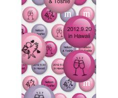 ファーファラ ハワイウェディング オプショナル・アイテム ウェディングギフト M&M's カスタムプリント チョコレート