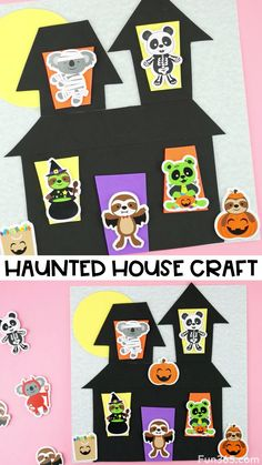 Add some not-so-spooky and cute crafting fun into your Halloween this year by making this colorful haunted house craft. Halloween This Year, Halloween House, Cute Halloween, Halloween Crafts, Activities For Kids, Crafts For Kids, What To Do When Bored, Diy Wedding Projects, Crafty Kids