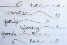 Custom Wire Words Personalized Wire Words Rustic by kraze4paper, $7.00