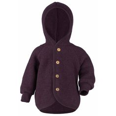 The beautiful hooded jacket from ENGEL is made from organic new wool (merino). The jacket has a cozy hood and elastic cuffs on the sleeves. Baby Skin, Sheep Wool, Put On, Mantel, Merino Wool, Hooded Jacket, Hoods, Men Sweater, Purple