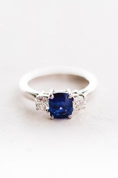 Wedding Blue engagement ring http://www.mandjphotos.com/