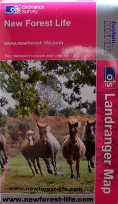 My New Forest Life personal OS map with a pic of The Drift