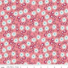 Riley Blake Flower Patch Collection - Flower Berries Pink