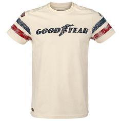 GoodYear Grand Bend Herren-T-Shirt - beige Good Year Basic Shirts, Great T Shirts, Tee Shirts, Fit Star, Beige T Shirts, Fiesta Outfit, Streetwear, Shirt Pins, Moda Casual