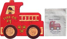 """Our Fire Truck puzzle has 12 large interlocking pieces cut from 1/8"""" hardwood plywood. Each puzzle measures about 11"""" high and 12"""" long. Our Fire Truck puzzle has 12 large interlocking pieces cut from 1/8"""" hardwood plywood. Each puzzle measures about 11"""" high and 12"""" long."""