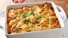Chicken Enchilada Bubble-Up Bake 6Ratings   6Comments   Prep 15 MIN Total 50 MIN Ingredients 7 Servings 6 Chicken Enchilada Bake, Enchilada Recipes, Mexican Chicken Casserole, Chicken Enchiladas, Meatball Casserole, Enchilada Sauce, Pillsbury Recipes, Mexican Food Recipes, Mexican Dishes
