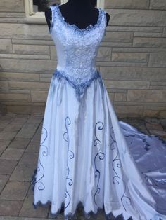 Z51 XS S Corpse Bride Wedding Zombie Goth Dress gown Costume ...