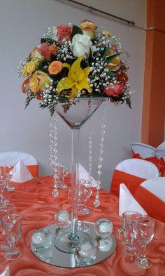 Centro de mesa para boda #Arreglosfloralesparamesa