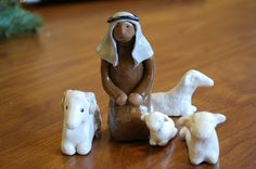 Sculpey figures for infancy narratives
