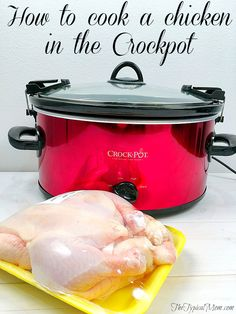 Easy whole chicken crockpot recipe. How to cook a chicken in your slow cooker, makes the moistest chicken ever!!