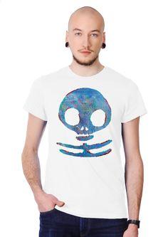 Winter war skull Men's Slim Fit T-shirt Design by Waukorbowy | Teequilla | Teequilla