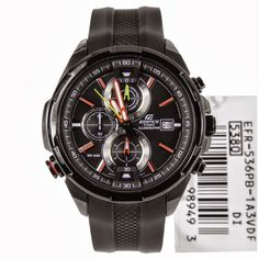 Low price, Authorised Casio dealer, Online selling, Casio Edifice Chronograph Mens Sports Watch EFR-536PB-1A3V EFR536PB