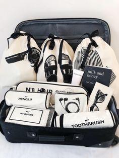 Travel Items, Travel Bags, Travel Backpack, Bag Essentials, Bag Organization, Organizing Bags, Garment Bags, Fabric Bags, Vinyl
