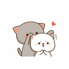 34 Ideas Drawing Cute Couple Posts For 2019 Chibi Cat, Kawaii Chibi, Kawaii Cat, Cute Chibi, Cute Love Pictures, Cute Love Gif, Cute Cat Gif, Cute Cat Wallpaper, Kawaii Wallpaper