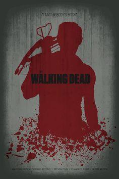 Walking Dead Minimalist Poster by MinimalistPosterShop on Etsy, $15.00