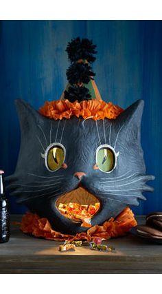 vintage paper mache ~ Join #Cat Lovers >> http://OzziCat.com.au