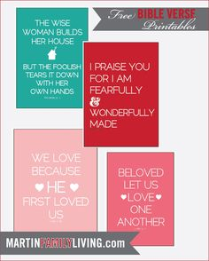 :: martin family living ::: Scripture Printables