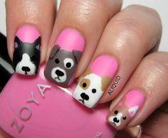 dog nail design