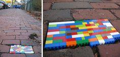 Lego street art Boston, USA
