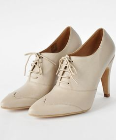 Ivory Olivia Heeled Oxford by Fortress of Inca