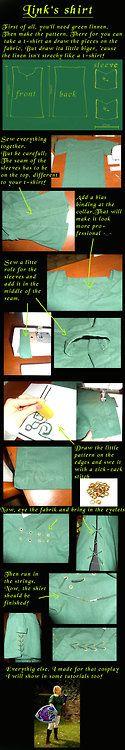 Link's Shirt Tutorial by eressea-samaView the full... - Cosplay Tutorial