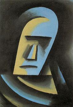 Josef Čapek (Czech 1887–1945) [Cubism] Head, 1915.