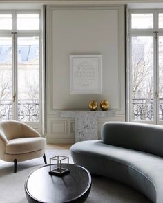 So peaceful! Parisian apartment decorated and curated by Joseph Dirand.     #interiordesign #interiors #interior #interiores #interiordesignideas #interiorinspiration #interiorinspo #instadecor #instadesign #interiordesign #interiordesigner #design #homedecor  #modern #mood #elledecor #architecturaldigest #vogueliving #fireplace #parisstyle #vintage #thefinerthings  #luxury #frenchchic #chic #sofa  #frenchstyle #art #midcentury