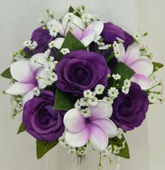 Frangipani posy bouquet purple