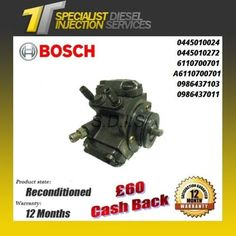 Mercedes Sprinter 2.1/2.2 Reconditioned Bosch Fuel Pump - 0445010024