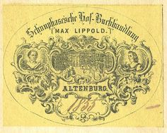 Old Book Plate Label