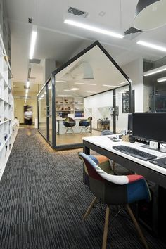 Bauhaus Architects And Grounded space inside a large area.Associates's Office / Bauhaus Architecs & Associates Office Space Design, Office Interior Design, Office Designs, Corporate Interiors, Office Interiors, Commercial Interior Design, Commercial Interiors, Office Workspace, Home Office