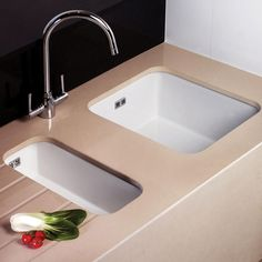 Astini Hampton 100 Bowl White Ceramic Undermount Inset Kitchen Sink Waste From Taps Uk