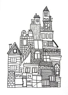 drawing city - Google Search