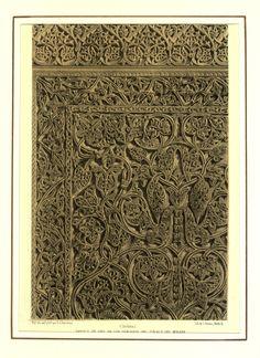 Ángulo de uno de los tableros del zócalo del Mihrab (1855)